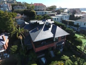 Another perspective looking back towards the house from above - Cwt-Y-Bugail Welsh Slate in Point Piper