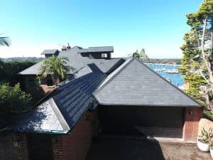 close up view of the roof