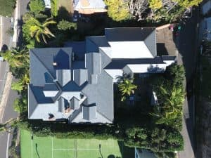 Left to right aerial view - Cwt-Y-Bugail Welsh Slate in Point Piper